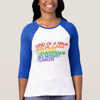 Camisa do arco-íris do basebol do marinho das