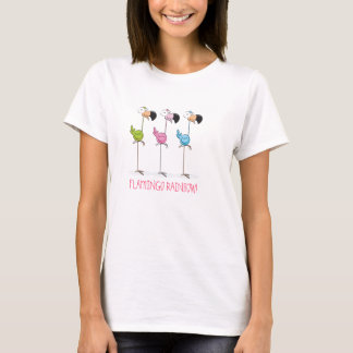 Camisa do arco-íris do flamingo