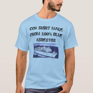 Camisa do asbesto azul de Arrrgh do mar da
