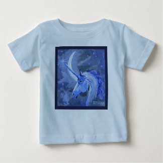 Camisa do azul do unicórnio da lua