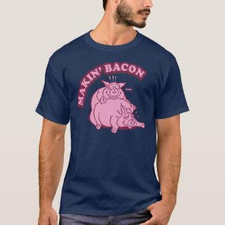 Camisa do bacon T do fazer de Makin