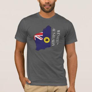 Camisa do Bandeira-Mapa da Austrália Ocidental