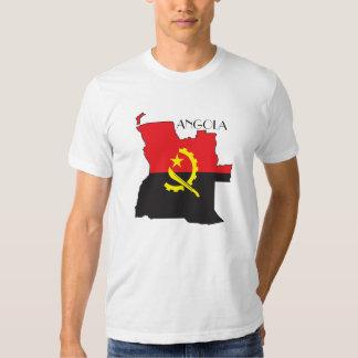 Camisa do Bandeira-Mapa de Angola Tshirts
