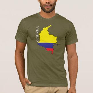 Camisa do Bandeira-Mapa de Colômbia
