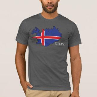 Camisa do Bandeira-Mapa de Islândia