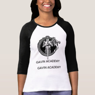 Camisa do basebol da academia do Gavin das Tshirts