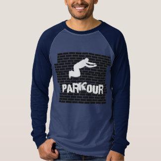 Camisa do basebol da camisa do atleta de Parkour