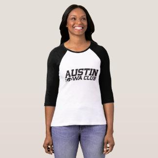 Camisa do basebol da mulher do clube de Austin