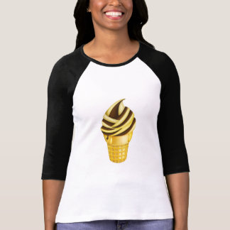 Camisa do basebol do cone do sorvete