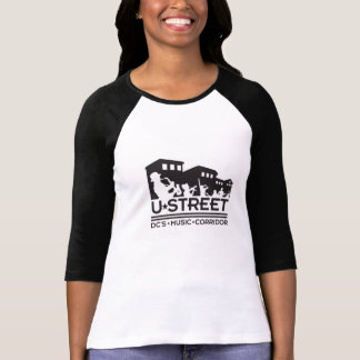 Camisa do basebol do logotipo da rua de U