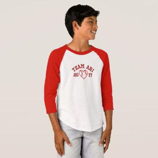 Camisa do basebol dos meninos de Ari da equipe