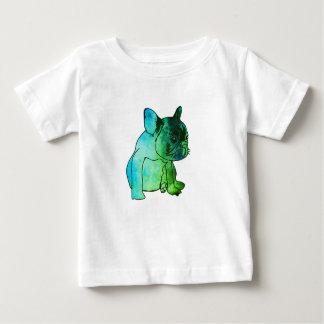 Camisa do bebê da arte da aguarela do filhote de