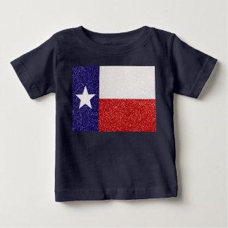 Camisa do bebê da bandeira de Texas do brilho T-shirts