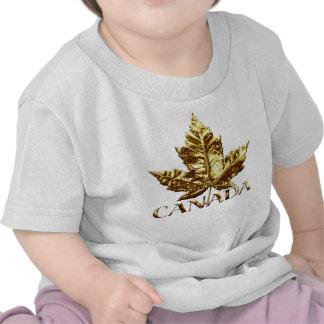 Camisa do bebê da folha de bordo do ouro do t-shirts
