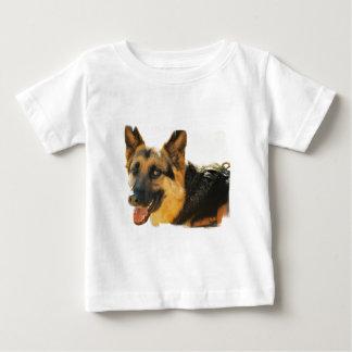Camisa do bebê da foto do cão de german shepherd