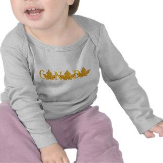 Camisa do bebê da lembrança de Canadá do t-shirt
