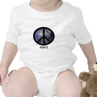 Camisa do bebê da paz babadores