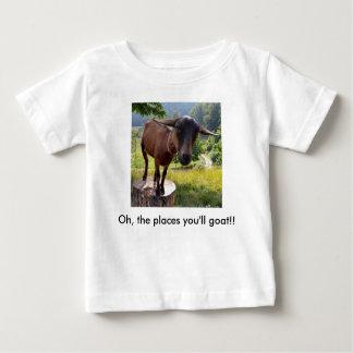 camisa do bebê das cabra-camisetas oh os lugares