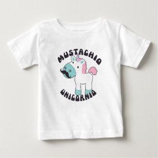Camisa do bebê de Unicornio do Mustachio