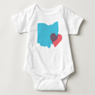 Camisa do bebê do amor do estado de Ohio