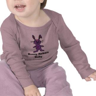 Camisa do bebê do coelho de coelho camiseta