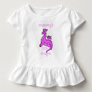 Camisa do bebê do dragão da mamã pouca