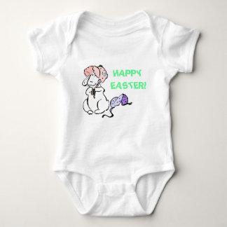 Camisa do bebê do felz pascoa