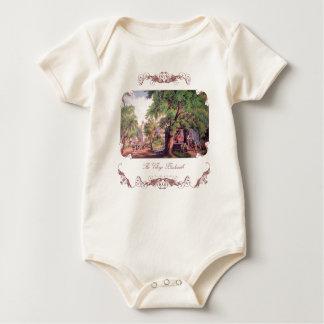 Camisa do bebê do ferreiro da vila