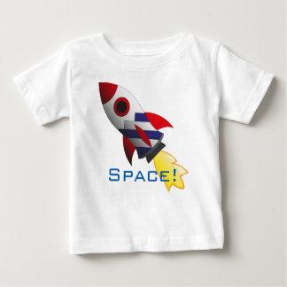 Camisa do bebê do foguete de espaço