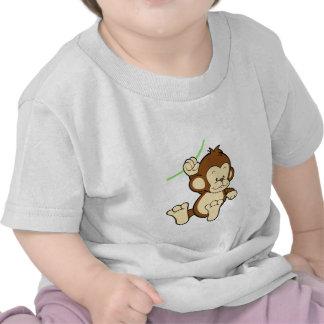 Camisa do bebê do macaco camisetas