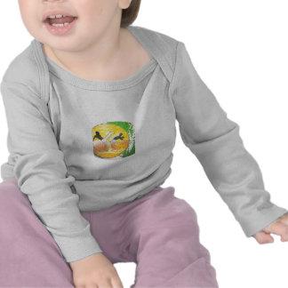 camisa do bebê do machado do ginga do capoeira t-shirts