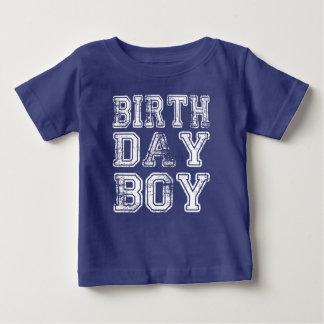Camisa do bebê do menino do aniversário