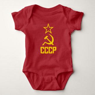 Camisa do bebê do partido comunista de CCCP