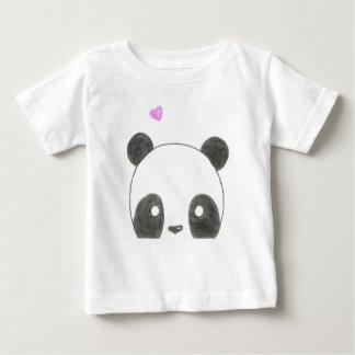 Camisa do bebê do urso de panda
