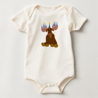 Camisa do bebê dos alces de Hanukkah