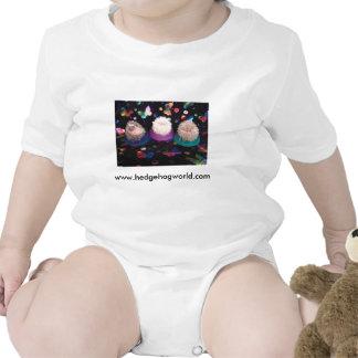 Camisa do bebê dos ouriços do bebê macacãozinho para bebês