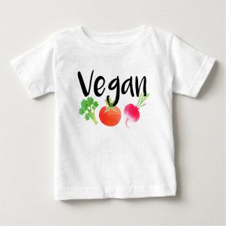 """Camisa do bebê dos vegetarianos do """"Vegan"""""""