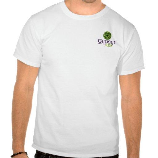 Camisa do beijo do cigano dos homens camiseta