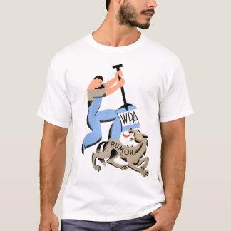 Camisa do boato T de WPA do vintage