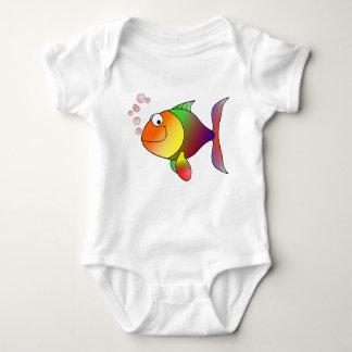 camisa do Bodysuit do peixe dourado da Multi-cor