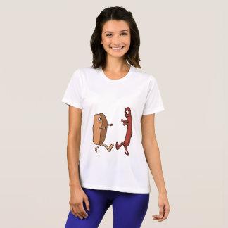 camisa do bolo de hotdog e do casal do weiner
