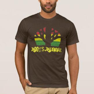 Camisa do Brown T dos homens da reggae das raizes