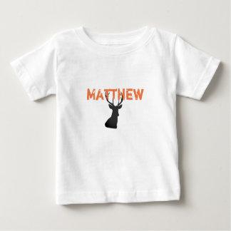 Camisa do caçador dos cervos do bebê com fanfarrão