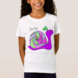 Camisa do caracol para meninas