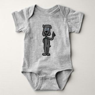 Camisa do caráter do buldogue dos desenhos
