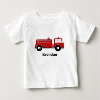 Camisa do carro de bombeiros T dos meninos T-shirt