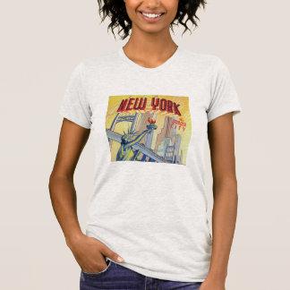 Camisa do cartão da Nova Iorque do vintage