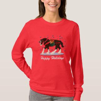 Camisa do cavalo de Clydesdale do feriado