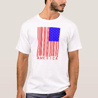 Camisa do código de barras de América