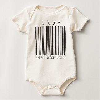 Camisa do código de barras do bebê